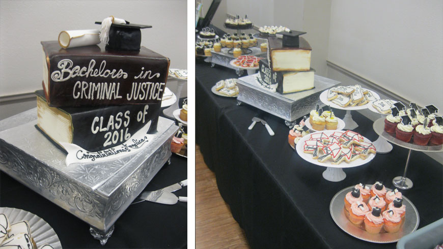 A Criminal Justice Themed Cake For Graduation